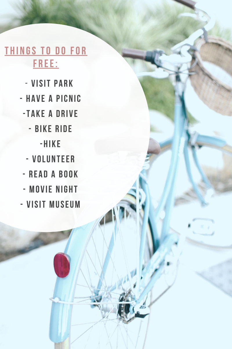 Bicycle photo identifying things you can do for free when you are experiencing unexpected job loss